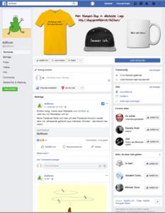 Facebook dufitoon Seite
