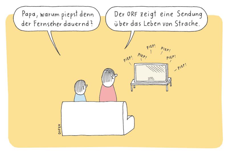 Das Leben von Strache im ORF