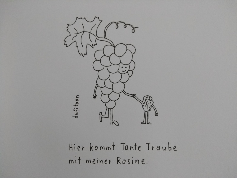 Weintraube und Rosine